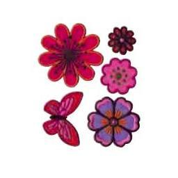 Flowers collection embroidered patches